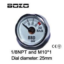 ペイントボールアクセサリーハンドポンプエアガン PCP エアガンミニ 350bar 圧力計 1/8NPT M10 * 1 ゲージ