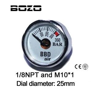 Image 1 - ペイントボールアクセサリーハンドポンプエアガン PCP エアガンミニ 350bar 圧力計 1/8NPT M10 * 1 ゲージ