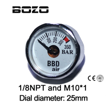 Paintball Accessoires Handpomp Airsoft PCP Luchtbuks Mini 350bar Manometer 1/8NPT M10 * 1 gauge