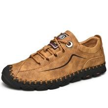 Mens รองเท้าหนัง Vintage รองเท้าสบายๆ 2019 ใหม่มาถึง Handmade ผู้ชายขับรถรองเท้าชายรองเท้าสบายๆ Loafers