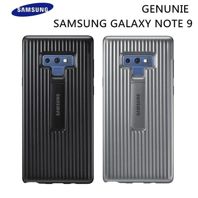 promo code f2c0d b81d7 US $8.99 40% OFF|Original Samsung Galaxy Note 9 Rugged Protective Cover  Kickstand Standing Case EF RN960 Black Silver Shockproof Anti fall-in  Fitted ...