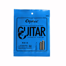 Orphee RX15 6pcs Electric Guitar String Set (009-042) Nickel Alloy String Super Light Tension &Great bright tone