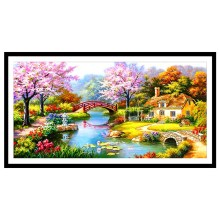 hot deal buy  5d diy diamond painting landscape full diamond embroidered oil painting landscape  diamond mosaic  rhinestones home decor