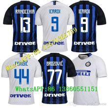 7b275f33f 19 18 Inter home soccer jersey 2019 Adult men LISANDRO #2 JOVETIC ICARDI  MEDEL CANDREVA Milan football 3rd shirt uniform