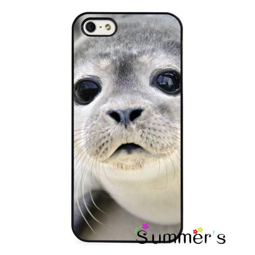Cute Baby Seal Face Nature Cellphone Case Cover For Iphone 4s 5s 5c