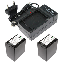 2X3900 mAh NP FV100 NP-FV100 FV100 Аккумулятор и Зарядное Устройство Комплект для Sony DCR-DVD103 XR100 для Sony HDR-XR550/E HDR-XR350/E HDR-XR150/E