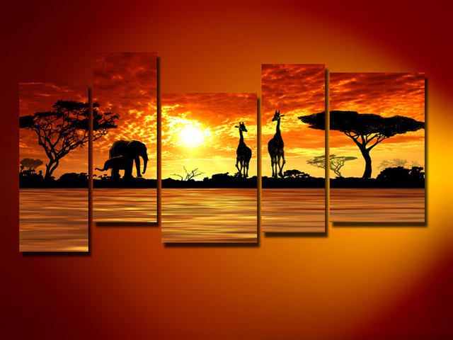 Handpainted giraffe and elephant oil painting For Bedroom Oil Painting With  Frames Stretched Home DecorationAliexpress com   Buy Handpainted giraffe and elephant oil painting  . Painting For Bedroom. Home Design Ideas