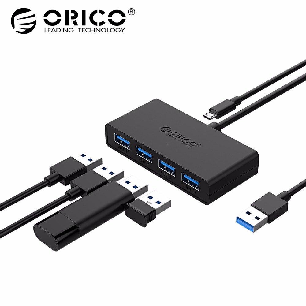 ORICO Mini USB 3.0 HUB 4 Port Power Versorgung OTG mit Micro USB Power Interface für MacBook Laptop Tablet Computer OTG USB HUB