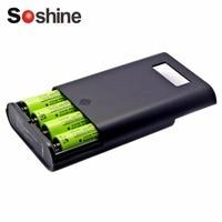Soshine Profesjonalna Ładowarka Do 4 Sztuk 18650 Wyświetlacz LCD Wymienne Baterie Baterie Banku Mocy Hurtownia