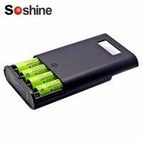 Soshine Professionelle Ladegerät Für 4 Stücke 18650 Batterien LCD Display Austauschbare Batterien Energienbank Großhandel