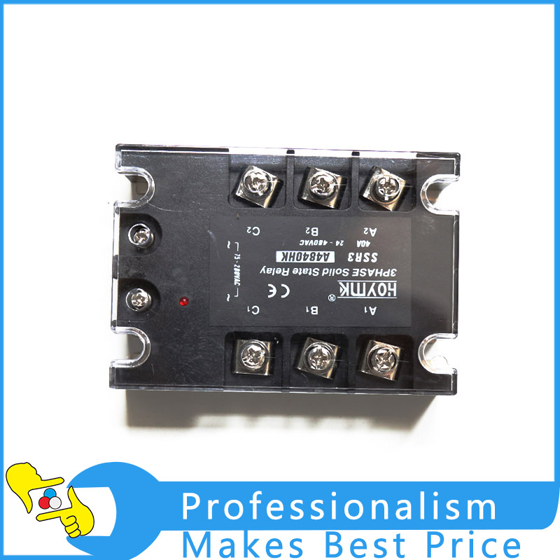 Universal good quality 3 Phase 40A AC Solid State Relay SSR3 A4840HK Electronic Switch normally open single phase solid state relay ssr mgr 1 d48120 120a control dc ac 24 480v
