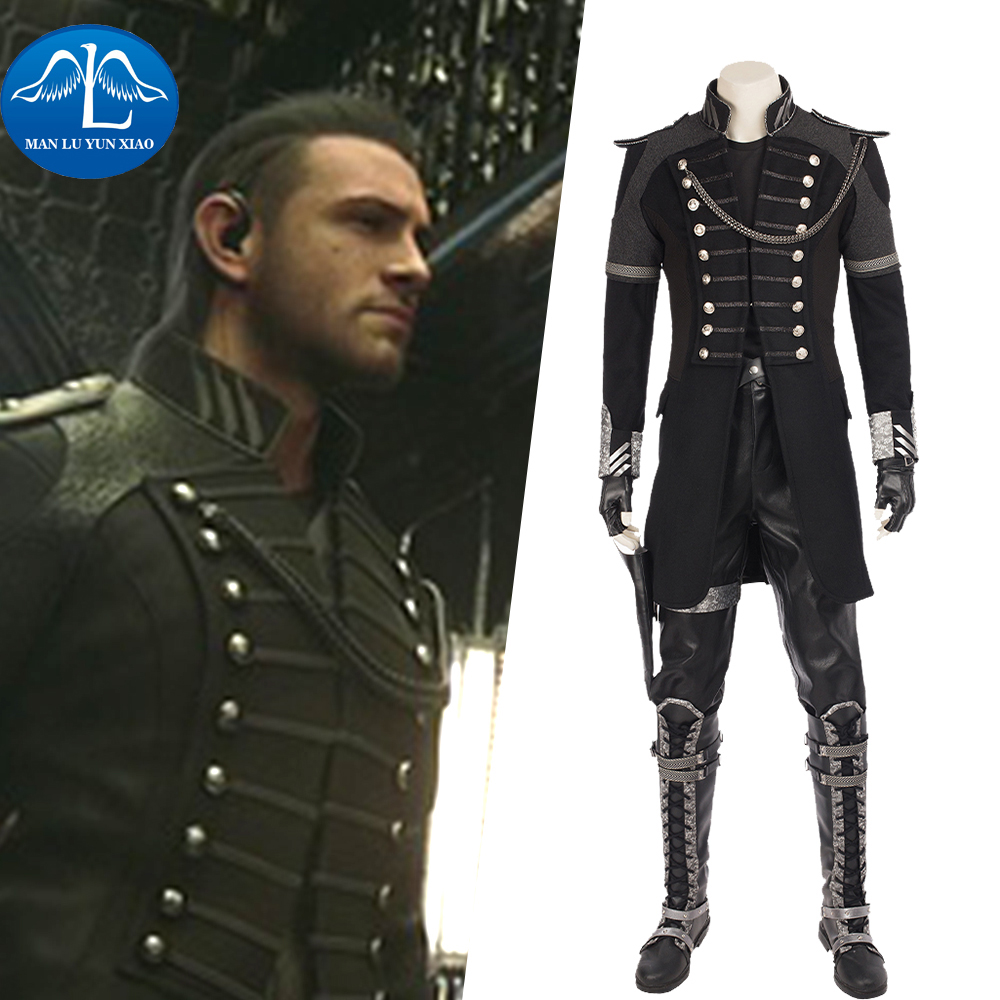 MANLUYUNXIAO Final Fantasy XV Cosplay Noctis Lucis Caelum Costume Cosplay Uomini Costumi di Halloween Per Adulti Set Completo Custom Made