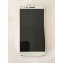 Дешевые Оригинальный Для LG G2 D802 ЖК-дисплей Дисплей сенсорный экран + дигитайзер сборки с рамкой черный и белый Бесплатная доставка