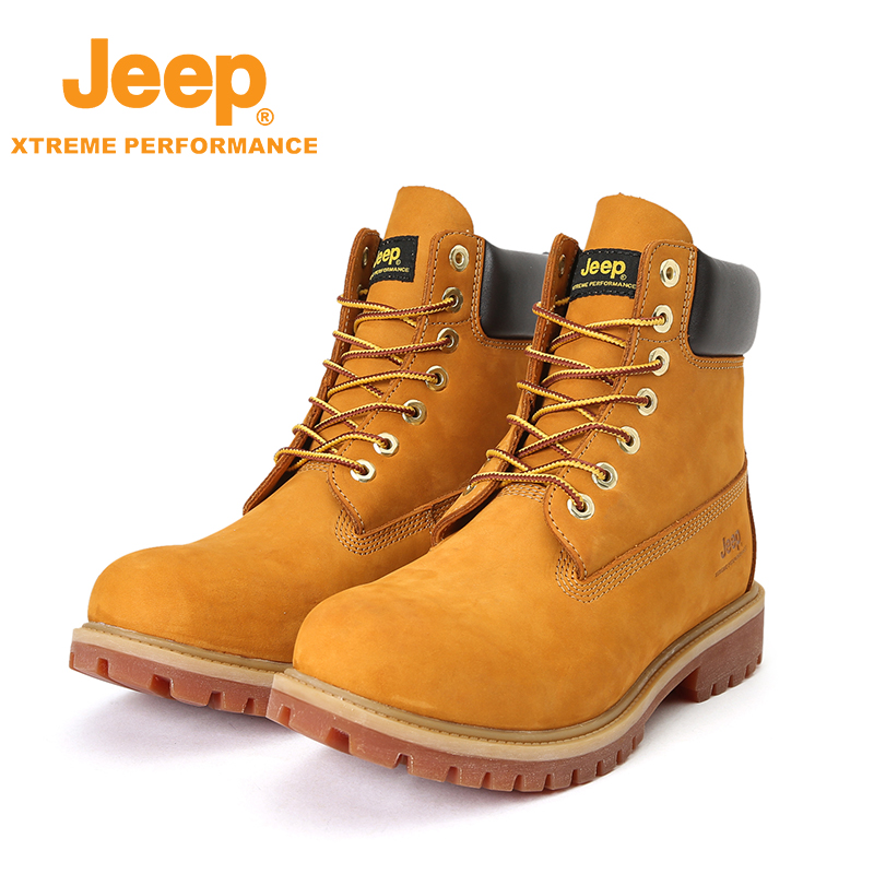 Nian Jeep outdoor men's casual shoes leather toe hiking ... |Jeep Mens Shoes