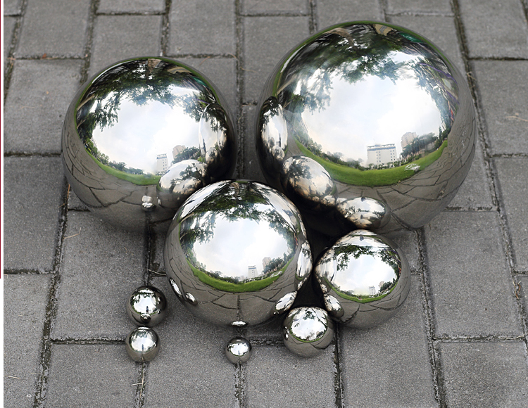 1 pcs 250mm Silver hollow Stainless steel hollow decoration ball metal ball furnishings home & garden Decoration improvement gloden 304 stainless steel hollow ball steel ball ball ornaments decorative titanium balls 80 90 100mm 3pcs