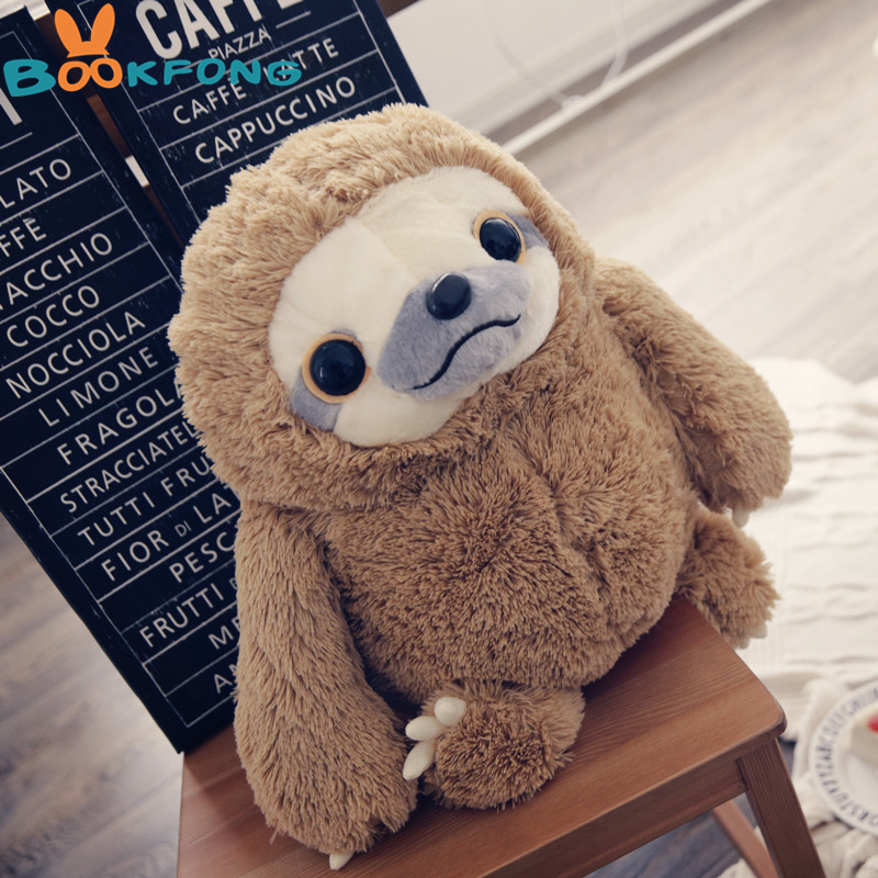 New 1PC Cute Sloth Plush Toy Doll Movie&TV Stuffed Animal Sloth Doll Children Birthday Gift 40cm/50cm largest size 95cm panda plush toy cute expression panda doll birthday gift w9698