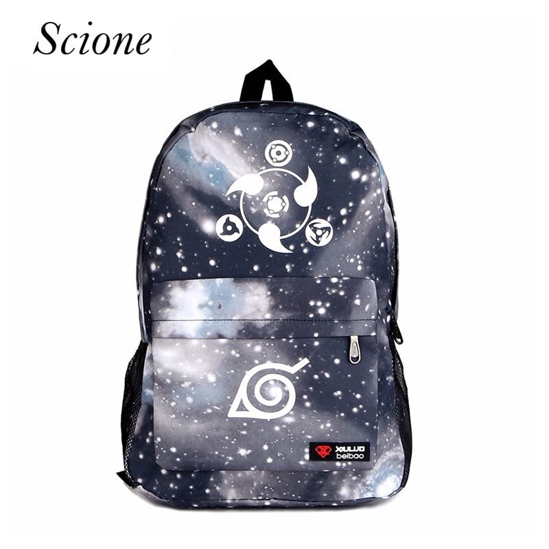 Naruto Luminous Rucksacks Hokage School Travel laptop Bag for Teenagers Japanese Anime Canvas Backpack Bolsas Mochila Escolar
