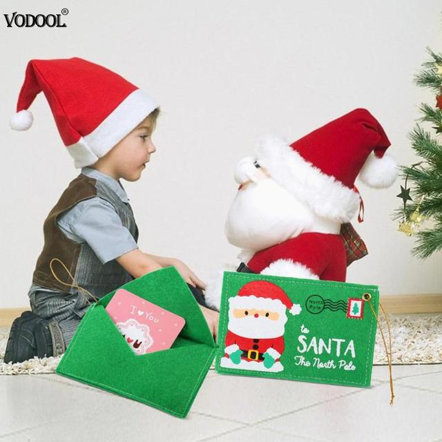 Christmas Santa Envelope Non woven Envelopes for Invitation Greeting