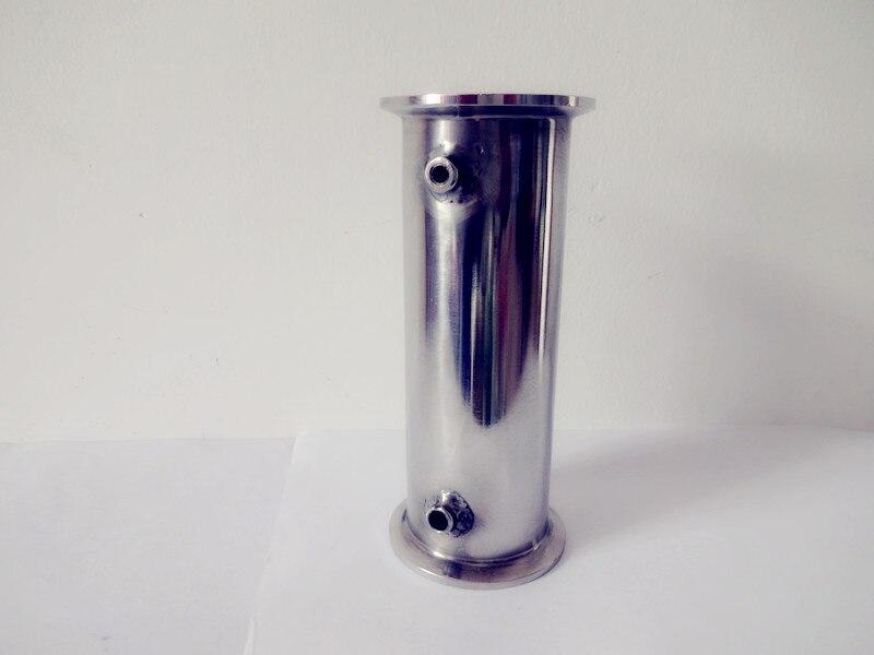 Livraison Gratuite 1.5 (38mm) OD50.5 Sanitaires Tri Trèfle Bobine Tube/Tuyau Avec Thermo Ports Diamètre 4.2mm Et 6.2mm, Tri Clamp Tuyau