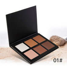 6 Colors Concealer Blemish Contouring Foundation Concealer Face Powder Bronzer Highlighter Trimming Powder Makeup Cosmetics Set