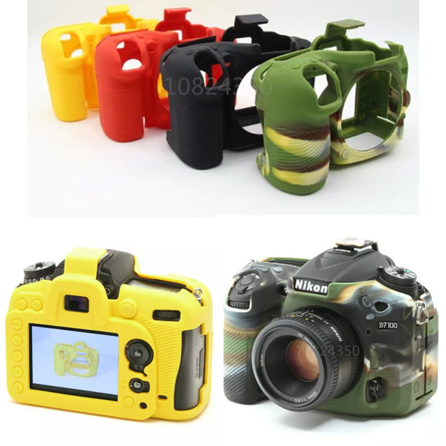 Nice Soft Silicone Rubber Camera Protective Body Cover Case Skin For Nikon D7200 D5300 D750 D3400 D5500 D810 D7500 Camera Bag