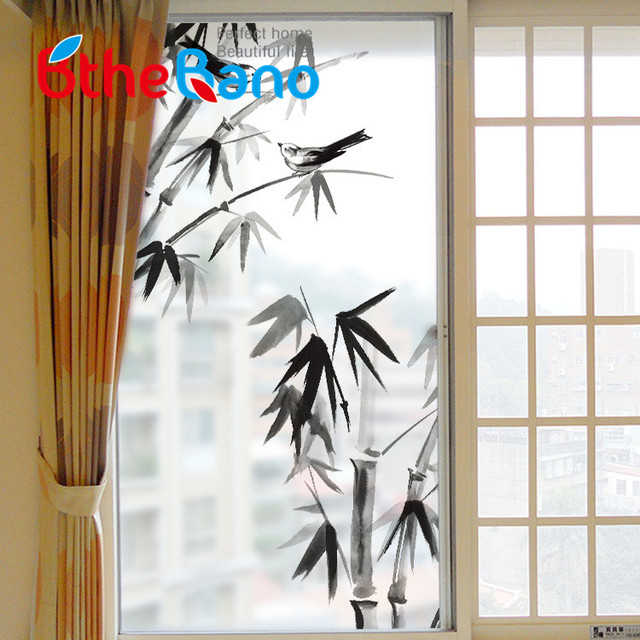Cm Waterproof Bamboo Frosted Home Privacy Bathroom Self - Window stickers for home privacy