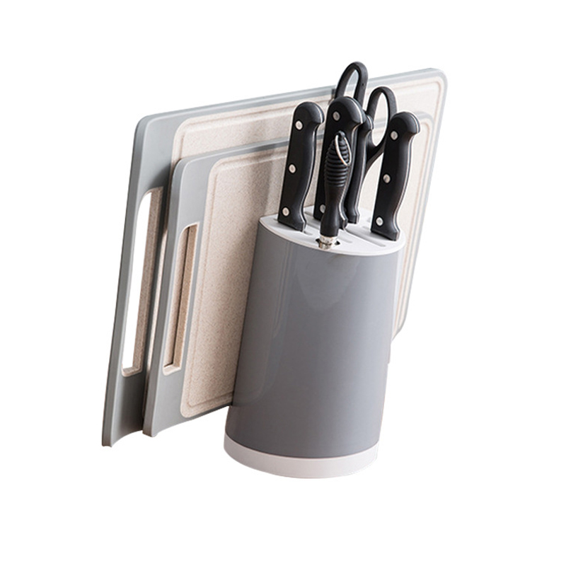 Universal 8 Hole Kitchen Knife Holder PP Plastic  Multifunctional Knife Block Rack Utensil Storage Organizer Tools