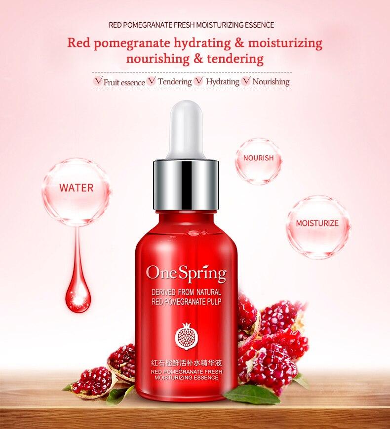 ONE SPRING Essence Red Pomegranate Serum Face Cream Whitening/moisturizing Remove Dark Spots Derum Liquid Tights Serum