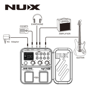 Image 4 - NUX MG 100 MG100 Modeling Guitar Processor Guitar Effect Pedal Drum Tuner Recorder Multi function With Guitar Modeling Processor