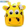 MAIHOO Neoprene waterproof cartoon Animals School Bags For Boys Cute Giraffe Girl Schoolbag Children Kid Mochila Satchel