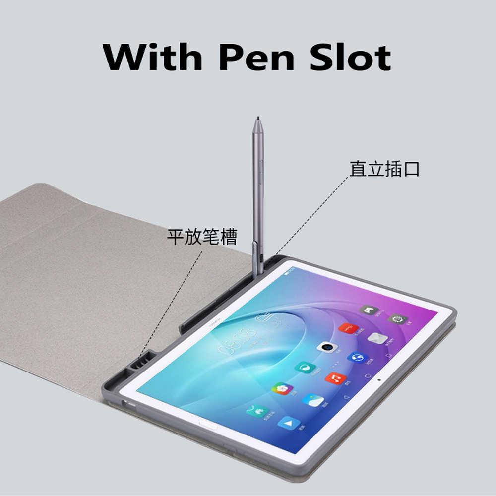 Снимите Беспроводной Bluetooth клавиатура держатель пенал для huawei Mediapad M5 10 Pro 10,8 с Экран защитная пленка стилус