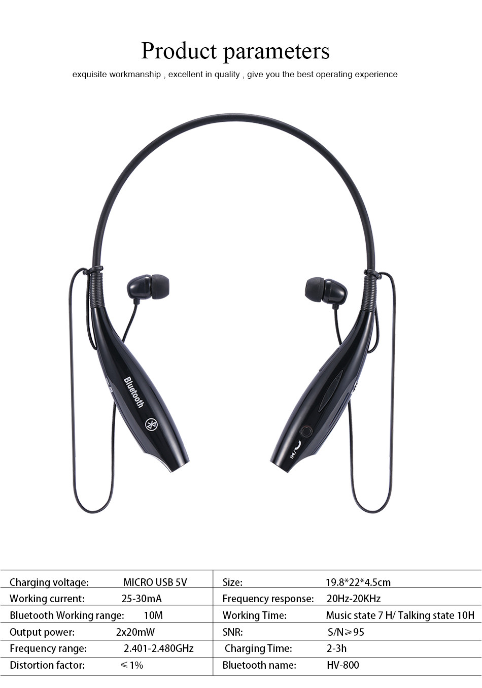 1a62f811b7b HV-800 Sports Wireless Bluetooth Headphones Stereo Earbuds Earpods Neckband  Style Headset with Mic for Smart Phone Xiaomi Phone