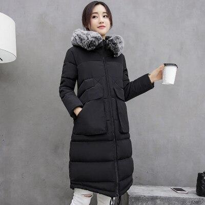 HOT! 2016 Novas Mulheres Da Moda Luz Magro Jaqueta de Inverno Feminino gola De Pele Artificial casaco Outerwear Down & Parkas Quente Casaco de inverno