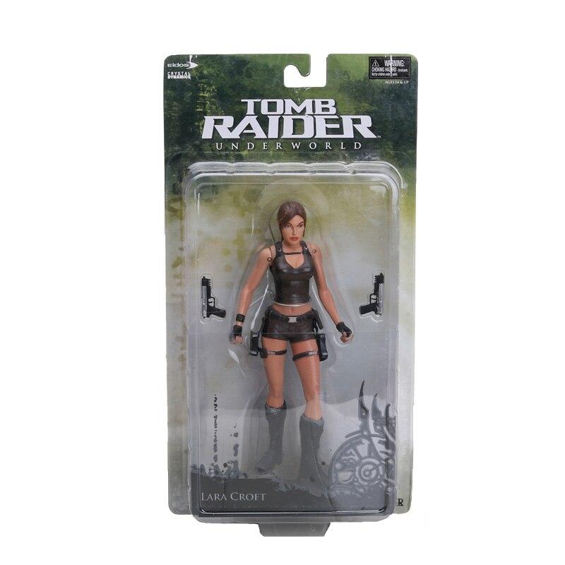 18CM 7 Inch Tomb Raider Underworld Lara Croft PVC Action Figure New In Box Retail In Action