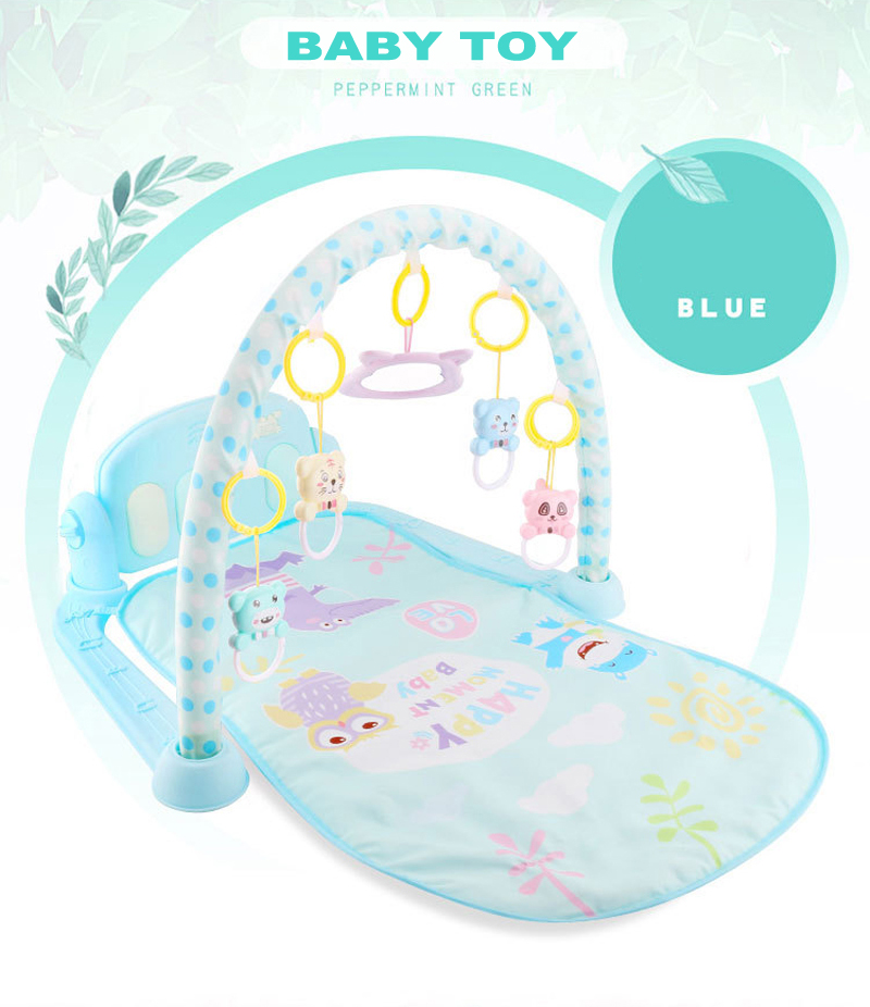 HTB1kZZlKbGYBuNjy0Foq6AiBFXaf Play Mat Baby Gym Toys Gaming Carpet 0-12 Months Soft Lighting Rattles Children's Music Mat Blue Pink Baby Gifts Educational Toy