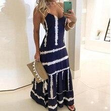 Женское пляжное платье, повседневное, без рукавов, в полоску, с v-образным вырезом, на бретельках, праздничное, макси платья, vestido branco de praia