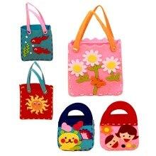 Handmade Handbags Non woven Cloth kids Crafts Cartoon Toys Creative Gifts Kids Toy Free Shipping