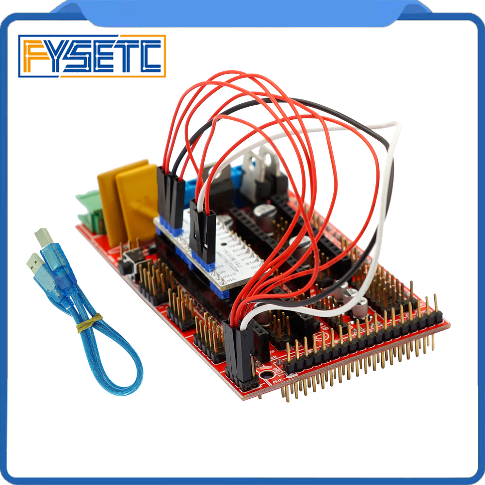 где купить 1Set Motherboard Shield Red RAMPS 1.4 Controller Board Panel Part + 2pcs TMC2130 V1.1 SPI Function For 3D Printer Arduino Kit по лучшей цене