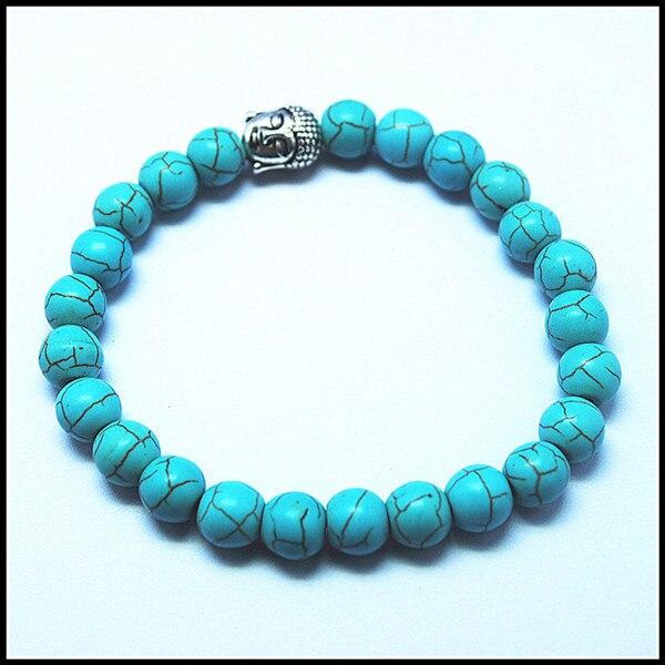 5899b4532bfe Fissure bleu turquoisee pierre perles bracelets pour femmes de taille 8mm  meilleur prix de gros