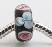 JP189 Best Selling Murano Glass Beads with Silver Plate Single Core Fit for European Fashion Jewelry Pendants