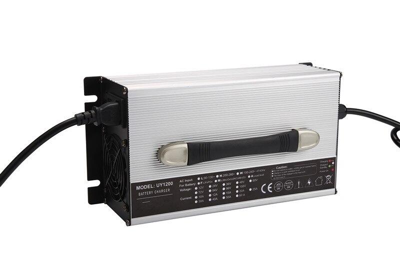1200W 12V 50A LifePO4 Electric Car Battery Charger , Car charger For Golf-lift вольтметр 50v 50a lifepo4 lipo tf01n