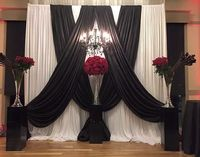 10ft x 10ft black and white Wedding Backdrop banquet Stage Decoration