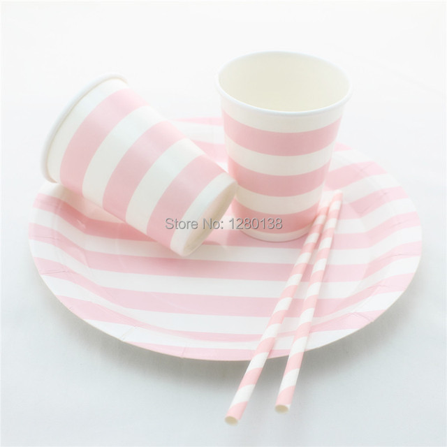 US $283 5 10% OFF|Aliexpress com : Buy Wedding Party Supplies 600 Sets  Disposable Paper Plates Drinking Paper Straws Paper Cups from Reliable cup  cups