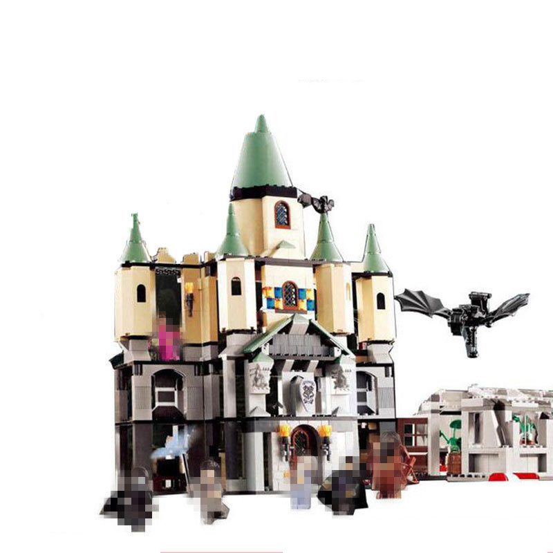 LEPIN 16029 Harry Potter Bricks Magic Hogwort Castle Set Movie Series Children Educational Building Blocks Kids Toys Gift 5378 new lepin 16008 cinderella princess castle city model building block kid educational toys for children gift compatible 71040