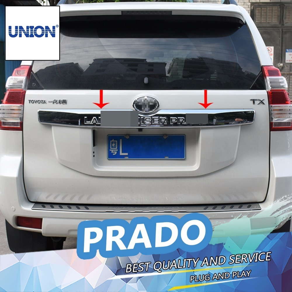 Exterior Parts Union Car Styling Tail Door Trim For Land Cruiser Prado Fj150 2014 2015 2016 Rear Trunk Lid Cover Tail Door Molding Cover Trim In Short Supply
