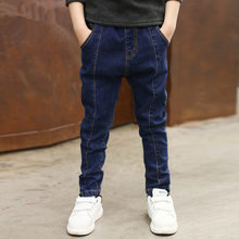 IENENS 5-10Y Young Fashion Denim Long Pants Boys Slim Straight Jeans Boy Casual Trousers Kids Baby Children Classic Bottoms(China)