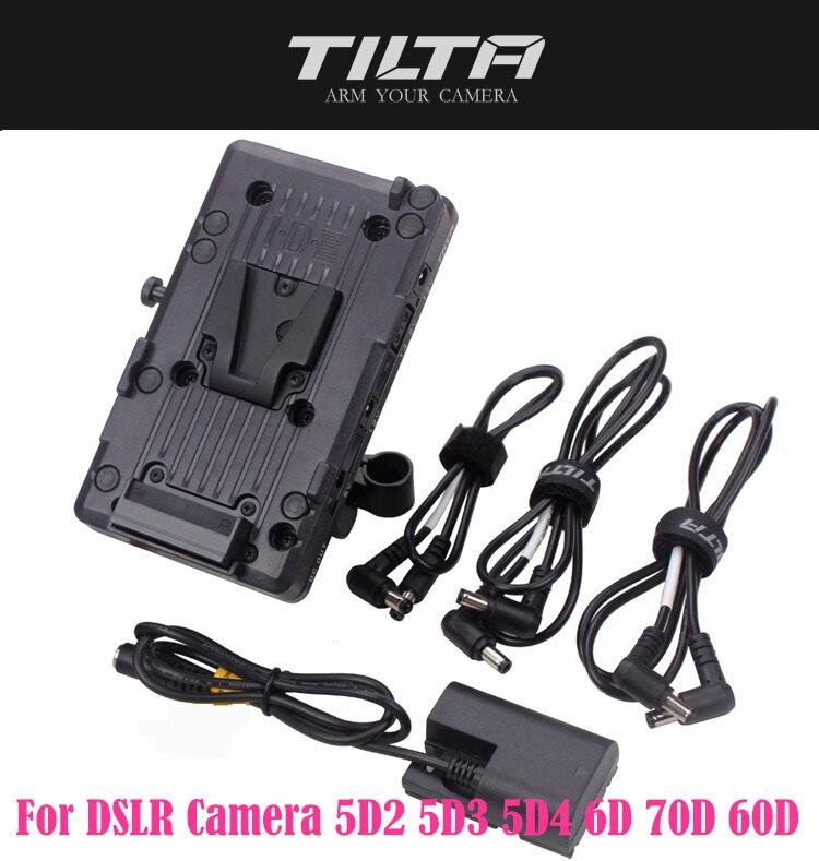TILTA BT 003 V V Piastra di montaggio Della Batteria Sistema di Alimentazione con Adattatore per Asta di 15 millimetri per la Macchina Fotografica DSLR 5D2 5D3 5D4 6D 70D 60DAccessori per studio fotografico   -