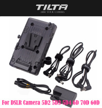 TILTA BT 003 V  V mount Battery Plate Power Supply System with 15mm Rod Adapter for DSLR Camera 5D2 5D3 5D4 6D 70D 60D