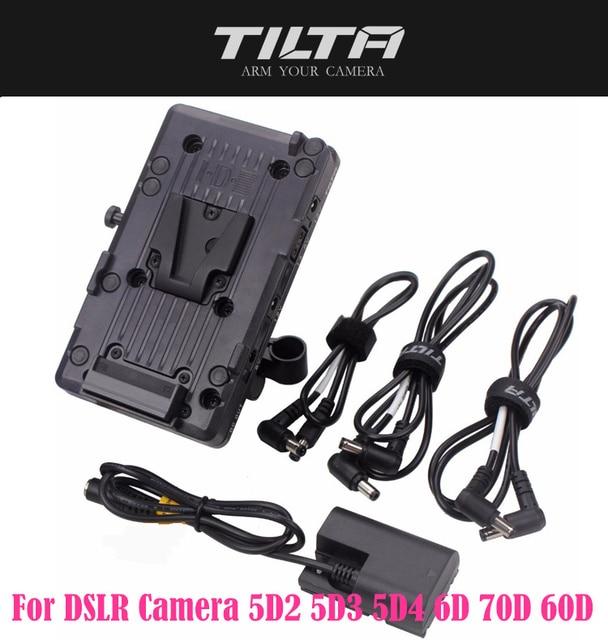 TILTA BT 003 V  V mount Battery Plate Power Supply System with 15mm Rod Adapter for DSLR Camera 5D2 5D3 5D4 6D 70D 60D