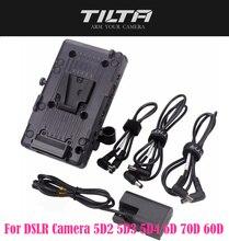 Tilta BT 003 V v montagem placa da bateria sistema de alimentação com 15mm adaptador haste para dslr câmera 5d2 5d3 5d4 6d 70d 60d